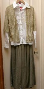 Olsen crash blouse, A2 cardi, Zoom linen pant