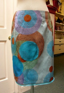 akn-circle-print-silk-skirt
