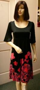 Sofia silk black dress