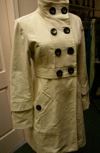 Hazel cream coat