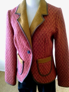 Hazel orange tweed jacket