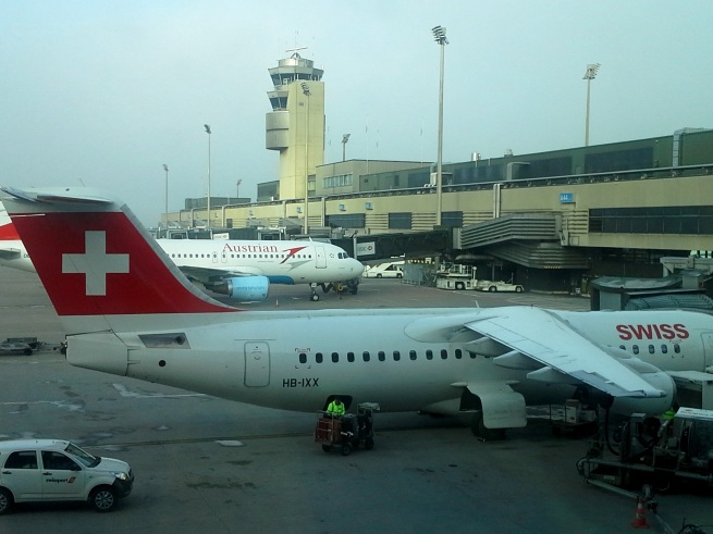 Zurich airport - that plane will take me to Lisbon!