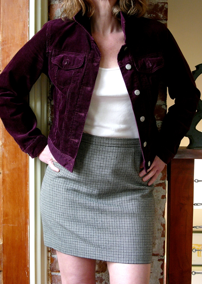 a reworked '60ies skirt and a thrift store jacket