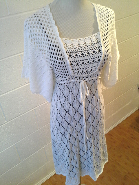 Hazel knit/crochet cotton dress