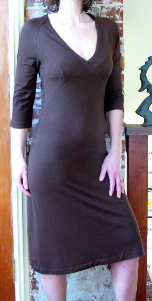 tight fitting jersey dress by Anni Kuan