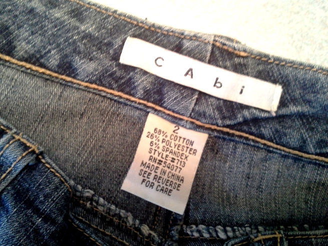 Jeans from my first CAbi party