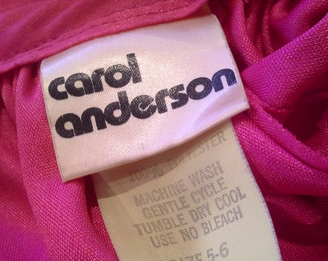 this is what her label used to look like